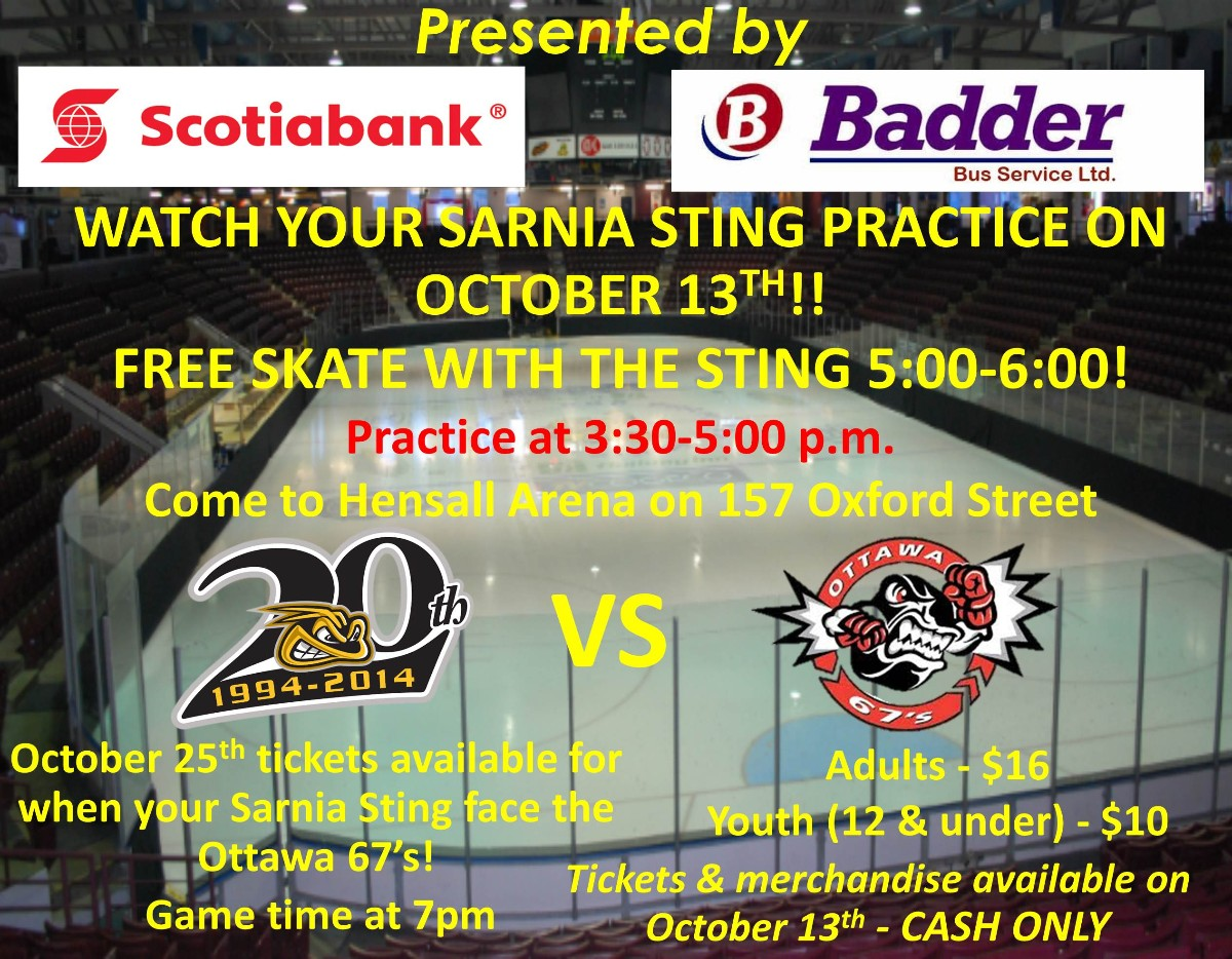 Skate with the Sarnia Sting