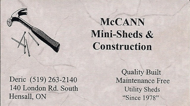 McCann Mini-Sheds & Construction